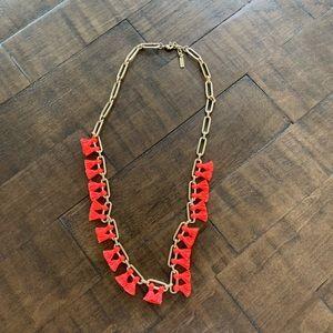 Baublebar Sebastian tassel collar coral necklace